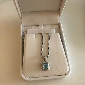 DY Petite Albion Pendant Necklace w/diamonds